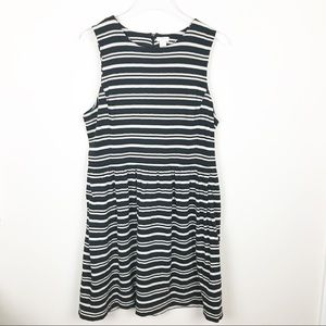 J. Crew Stripe Dress Size Large